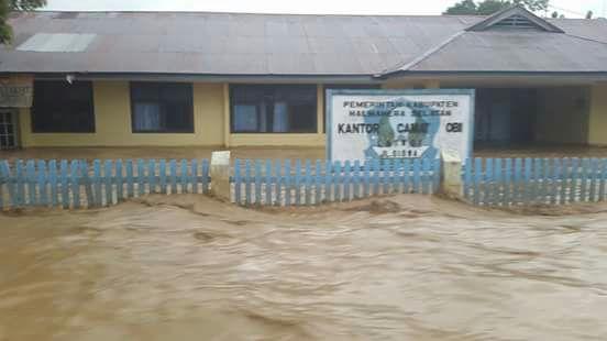 Banjir yang melanda Pulau Obi.